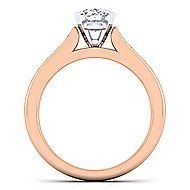 Nicola 14k White And Rose Gold Oval Straight Engagement Ring angle 2