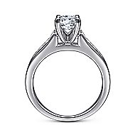 Nicola 14k White Gold Round Straight Engagement Ring angle 2