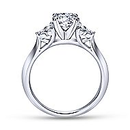 Nymeria 14k White Gold Round 3 Stones Engagement Ring angle 2