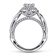 Odessa 14k White Gold Oval Double Halo Engagement Ring angle 2