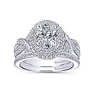 Odessa 14k White Gold Oval Double Halo Engagement Ring