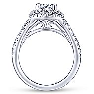 Ollie 14k White Gold Round Halo Engagement Ring angle 2