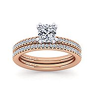 Oyin 14k White And Rose Gold Cushion Cut Straight Engagement Ring angle 4