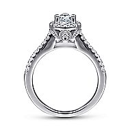 Paige 14k White Gold Pear Shape Halo Engagement Ring