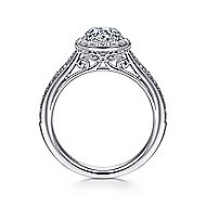 Passion 18k White Gold Round Halo Engagement Ring