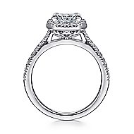 Patience 14k White Gold Princess Cut Halo Engagement Ring angle 2