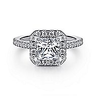 Patience Platinum Princess Cut Halo Engagement Ring angle 1
