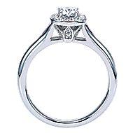 Peak 14k White Gold Round Halo Engagement Ring angle 2