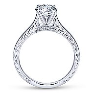 Penelope 14k White Gold Round Solitaire Engagement Ring