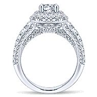 Peony 14k White Gold Round Double Halo Engagement Ring