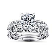 Peregrine 18k White Gold Round Straight Engagement Ring angle 4