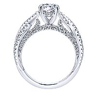 Periwinkle 14k White Gold Round Twisted Engagement Ring angle 2