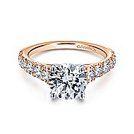 Piper 14k White And Rose Gold Round Straight Engagement Ring angle 1