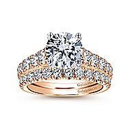 Piper 14k White And Rose Gold Round Straight Engagement Ring angle 4