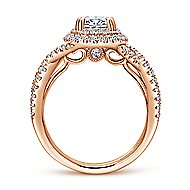 Pippa 14k Rose Gold Oval Double Halo Engagement Ring