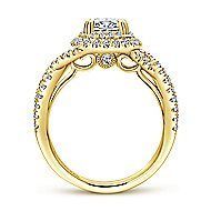 Pippa 14k Yellow Gold Oval Double Halo Engagement Ring