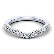 Platinum Contemporary Curved Wedding Band angle 1