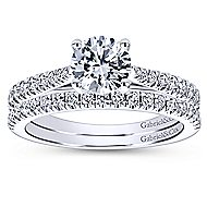 Platinum Contemporary Straight Wedding Band angle 4