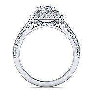 Platinum Cushion Cut Double Halo Engagement Ring angle 2