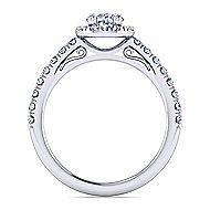 Platinum Oval Halo Engagement Ring angle 2