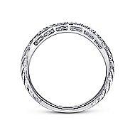 Platinum Victorian Curved Wedding Band angle 2