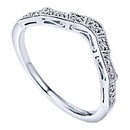 Platinum Victorian Curved Wedding Band