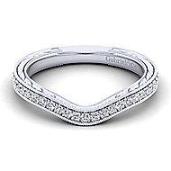 Platinum Victorian Straight Wedding Band angle 1