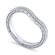 Platinum Victorian Straight Wedding Band angle 3