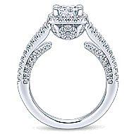 Porto 14k White Gold Princess Cut Halo Engagement Ring angle 2