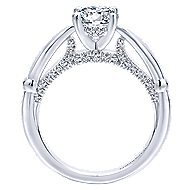 Posy 14k White Gold Round Straight Engagement Ring angle 2