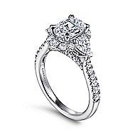 Prescott 14k White Gold Oval Halo Engagement Ring