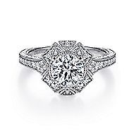 Providence 14k White Gold Round Halo Engagement Ring