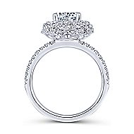 Quincy 18k White Gold Round Halo Engagement Ring angle 2