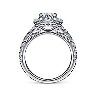 Rachel 14k White Gold Round Halo Engagement Ring angle 2