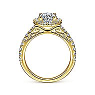 Rachel 14k Yellow Gold Round Halo Engagement Ring angle 2