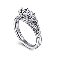 Rafferty 14k White Gold Marquise  Twisted Engagement Ring