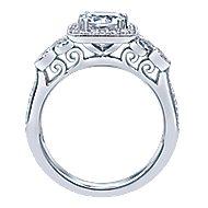Reade 14k White Gold Princess Cut Halo Engagement Ring angle 2