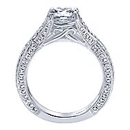 Reflect 18k White Gold Round Twisted Engagement Ring angle 2