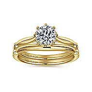 Regalia 18k White Gold Round Solitaire Engagement Ring angle 4