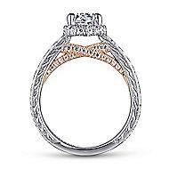 Regina 14k White And Rose Gold Round Straight Engagement Ring