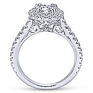 Reina Platinum Round Halo Engagement Ring