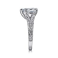 Remy 14k White Gold Pear Shape Split Shank Engagement Ring angle 5