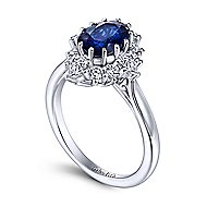 Ridley 14k White Gold Oval Halo Engagement Ring