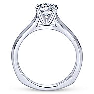 Rina 14k White Gold Round Solitaire Engagement Ring angle 2