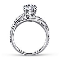 Rogue 14k White Gold Round Bypass Engagement Ring angle 2