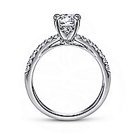 Ronan 18k White Gold Round Straight Engagement Ring angle 2