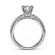 Ronan Platinum Round Straight Engagement Ring