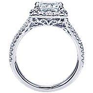 Rosemarie 14k White Gold Princess Cut Halo Engagement Ring