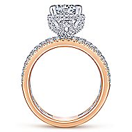 Rosie 18k White And Rose Gold Round Straight Engagement Ring angle 2