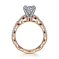 Rowan 14k White And Rose Gold Round Straight Engagement Ring angle 2